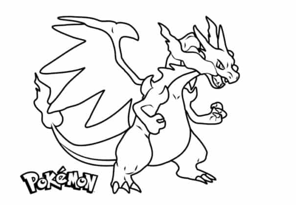mega charizard coloriage pokemon légendaire