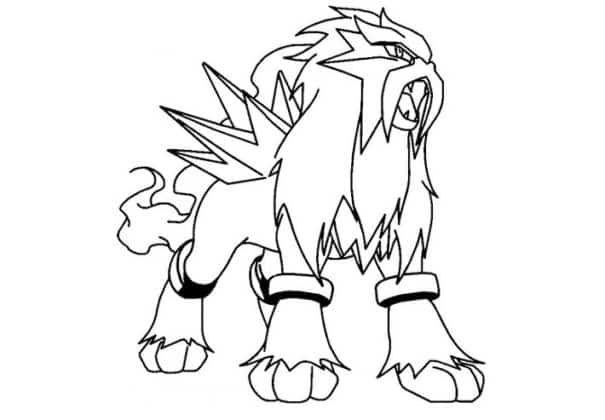 Entei coloriage pokemon légendaire