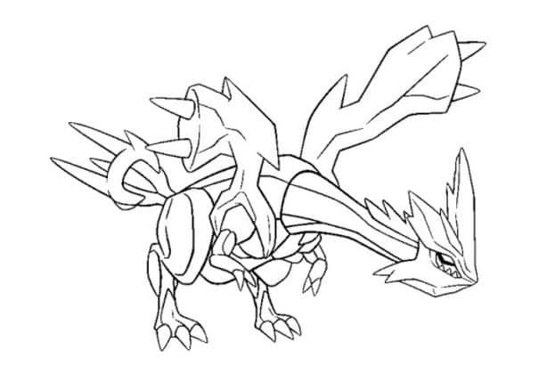 coloriage pokemon légendaire Kyurem