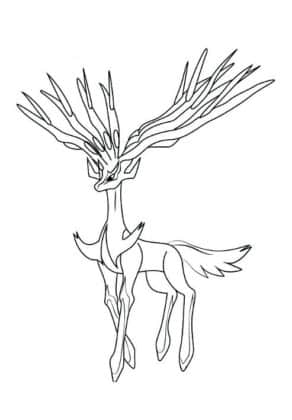 xerneas coloriage pokemon legendaire
