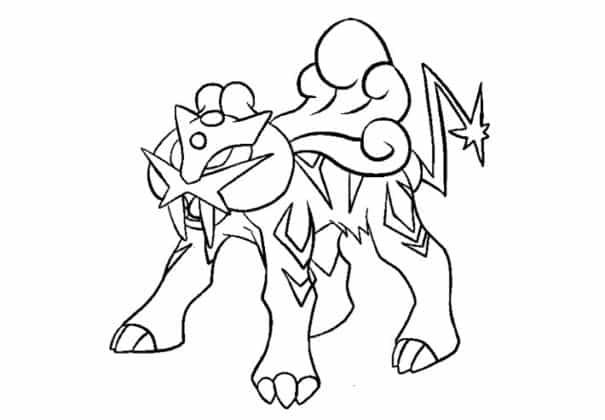 Raikou coloriage pokemon légendaire