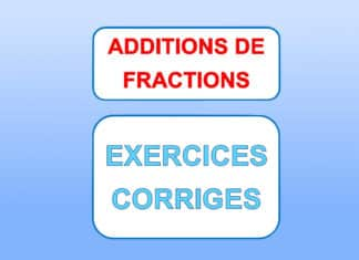 addition de fractions