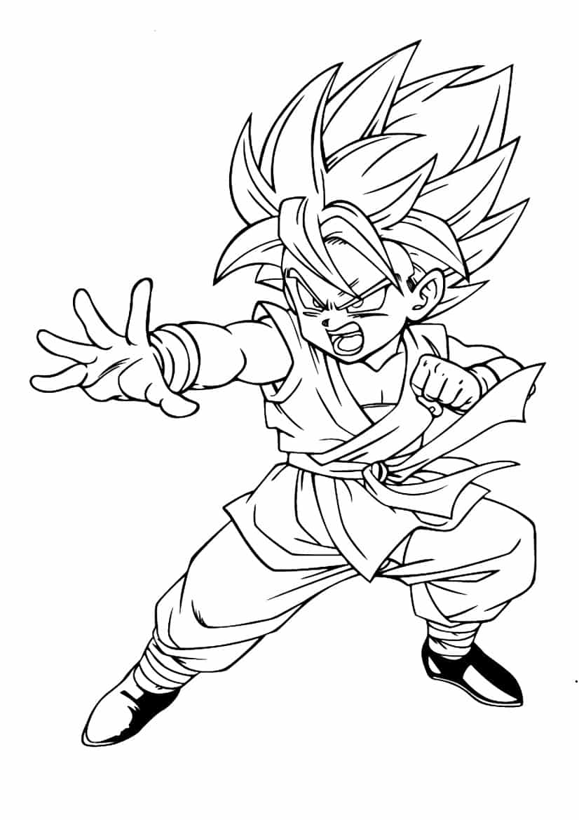 Coloriage A Imprimer Goku Ultra Instinct   Coloriages A Imprimer ...