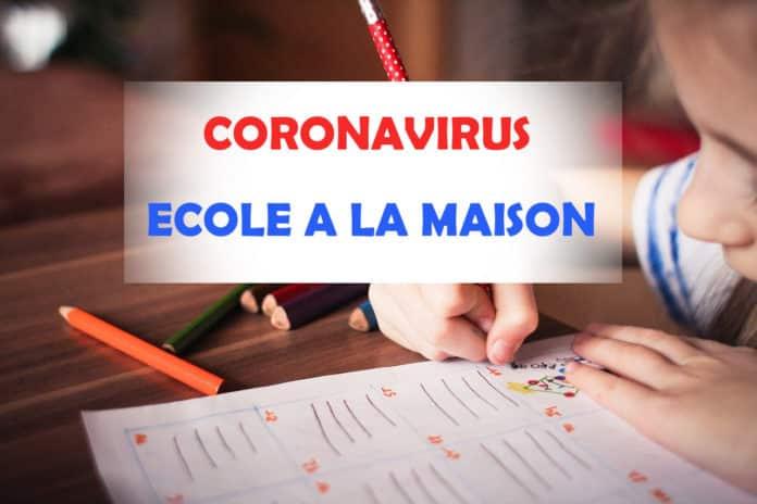 ECOLE A LA MAISON CORONAVIRUS