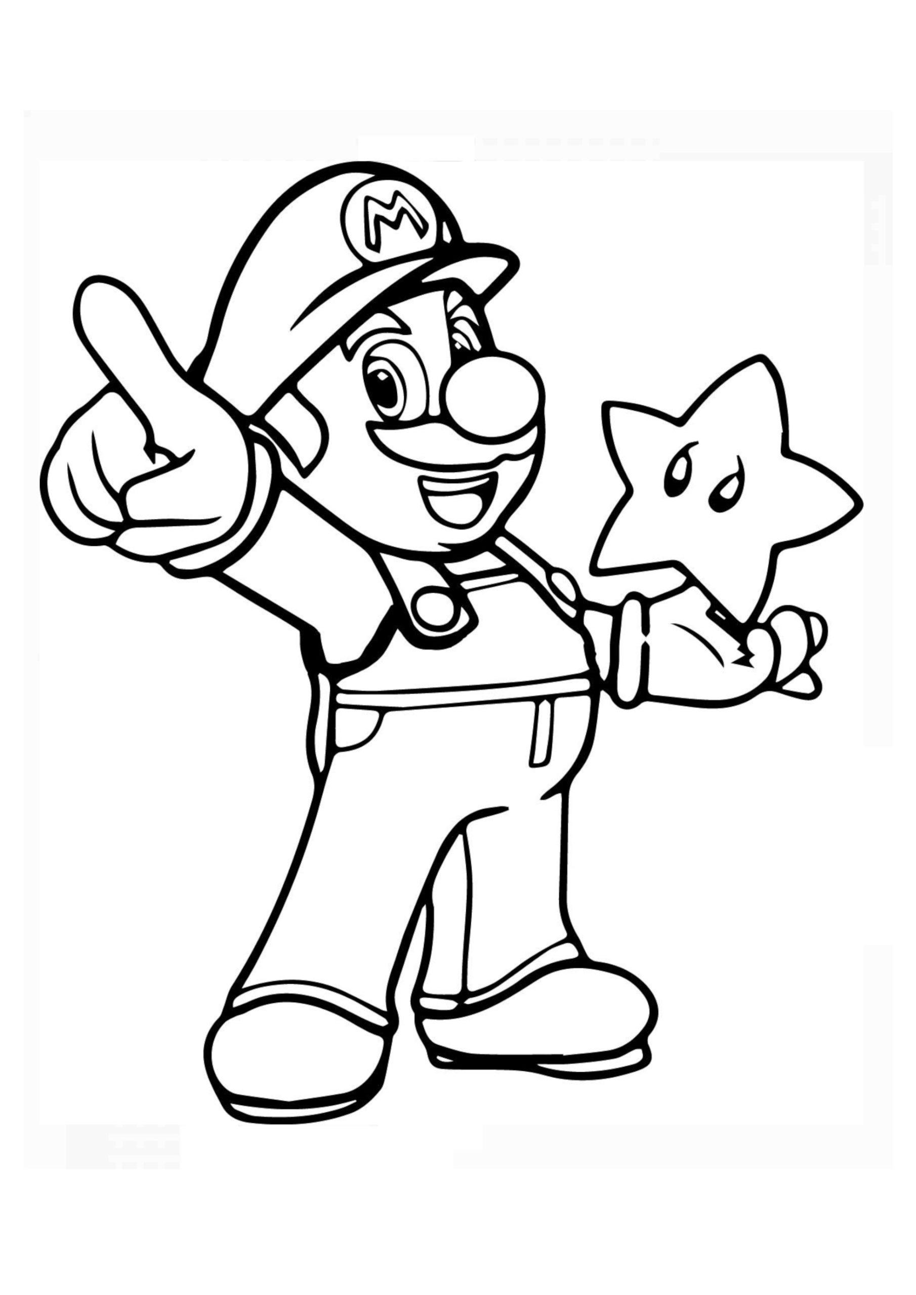 Coloriage Mario   32 supers dessins à imprimer GRATUITEMENT