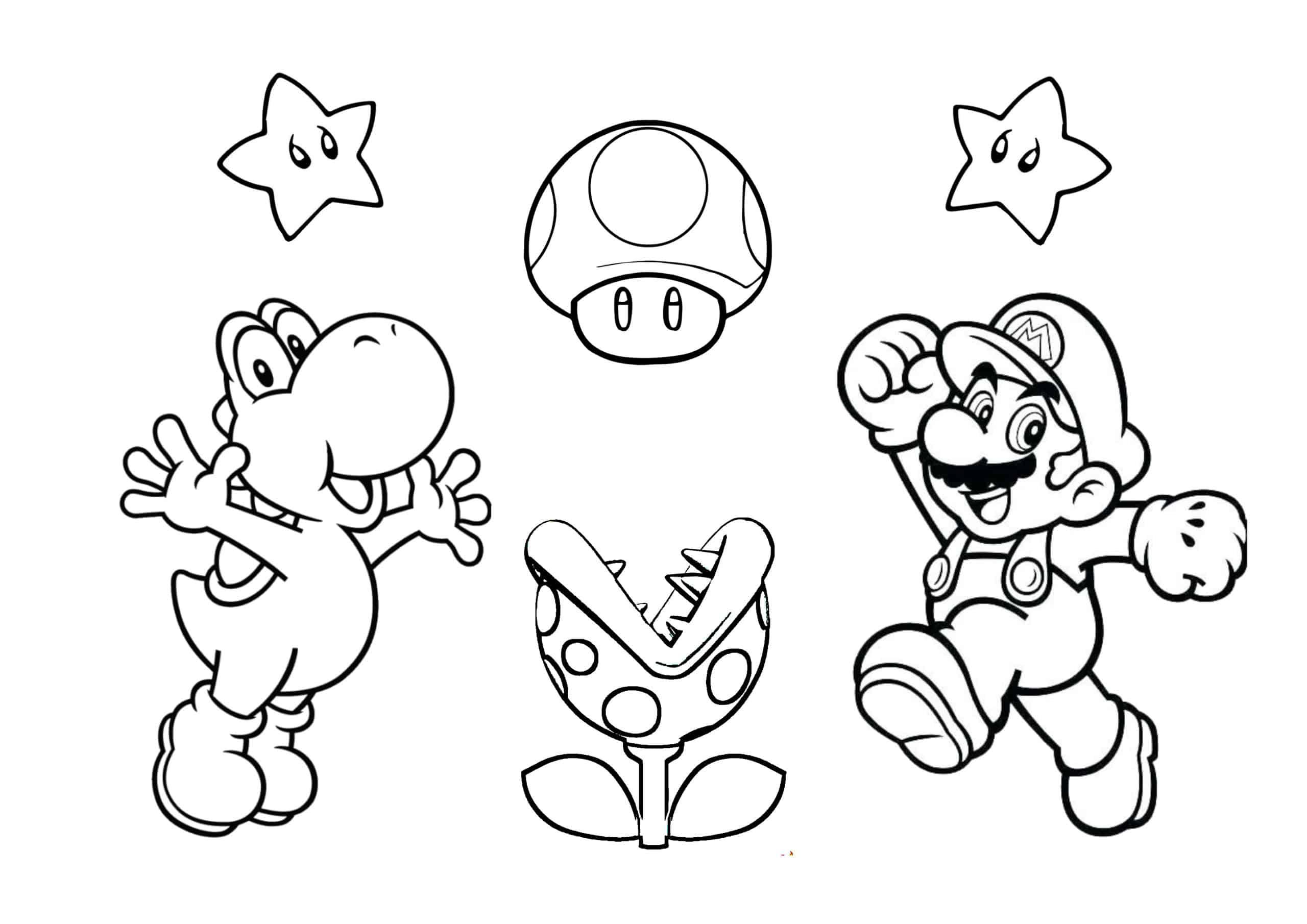 Coloriage Mario Notre Livre A Imprimer Gratuitement