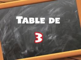 table de multiplication de 3