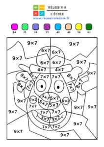 coloriage magique multiplication