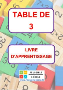 Table de multiplication de 3 table de 3
