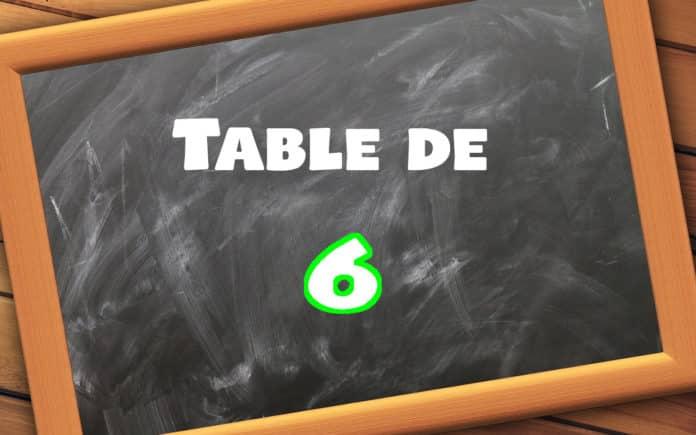 table de 6 multiplication école primaire