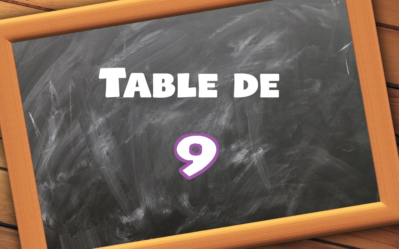 table de 9 multiplication école primaire