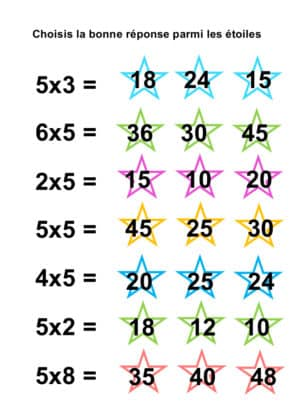 TABLE DE 5