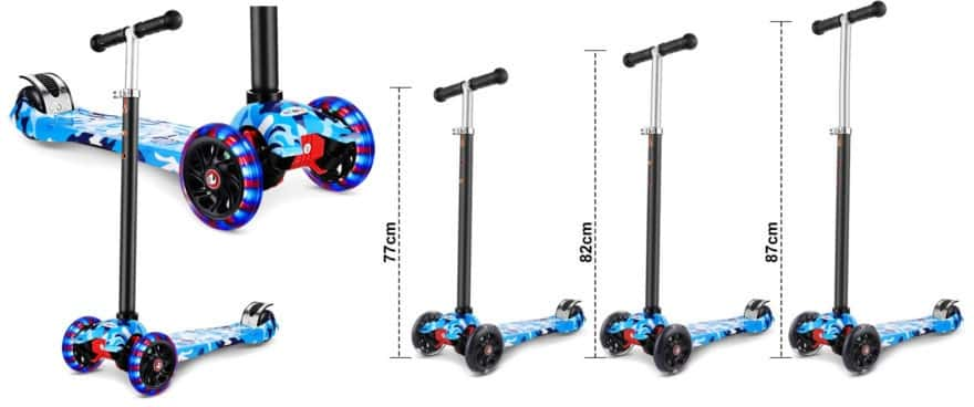 trottinette enfant 3 ans WeSkate Trottinette Tricycle pour Enfants
