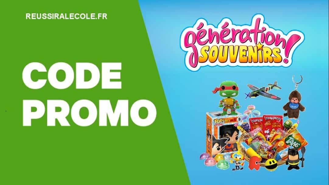 code promo generation souvenir
