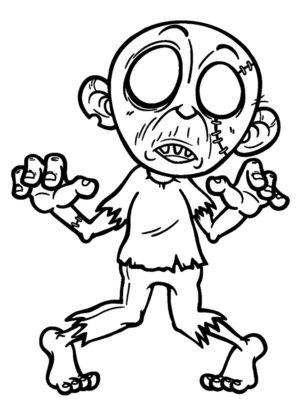 zombie a colorier
