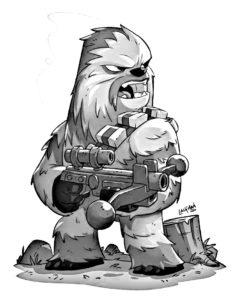 Dessin Chewbacca