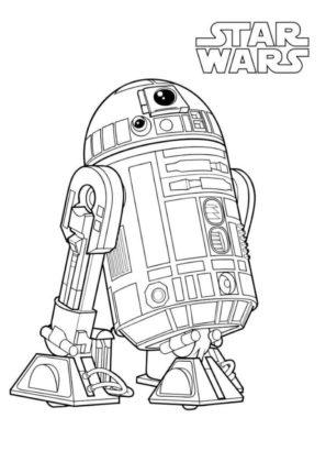 coloriage star wars à imprimer