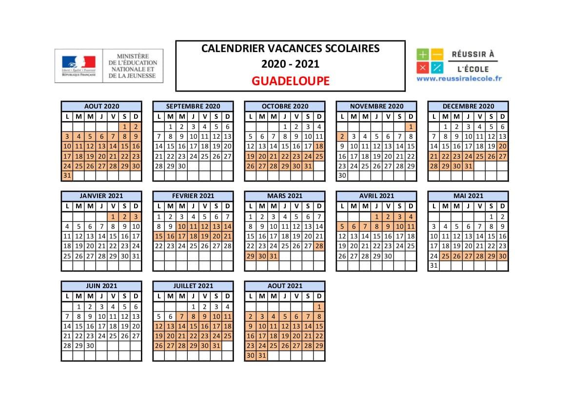 Calendrier vacances scolaires | Les dates de 2020 et 2021
