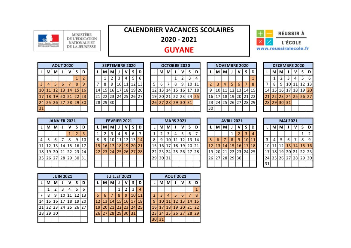 Calendrier vacances scolaires 2021 en France et DOM TOM