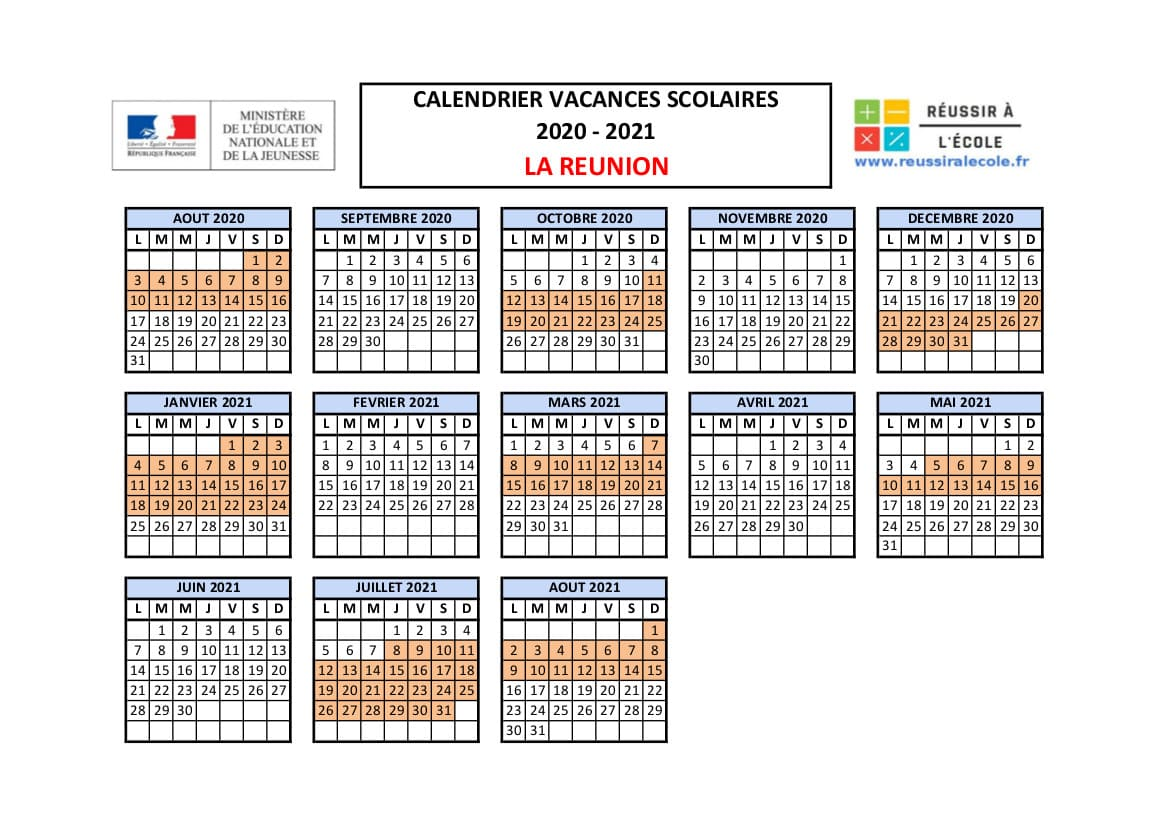 CALENDRIER SCOLAIRE 2020   vacances scolaires gouv.fr Calendrier