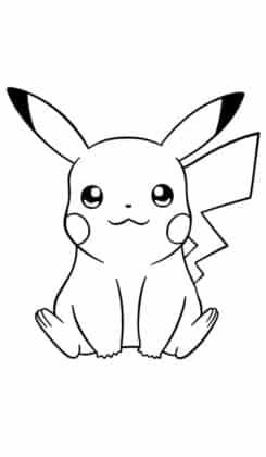 dessin pikachu