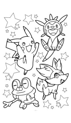 pokemon coloriage