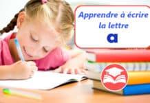 apprendre a ecrire la lettre a