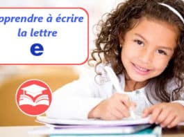 apprendre a ecrire la lettre e