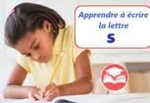 apprendre a ecrire la lettre s