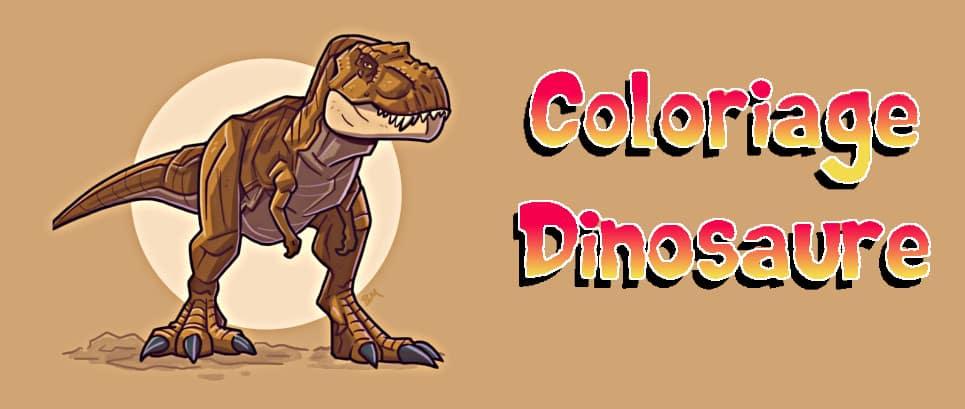 tyrannosaure à colorier