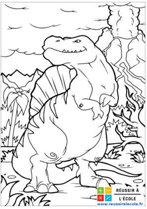 coloriage dinosaure gratuit