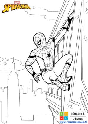 coloriage spiderman gratuit