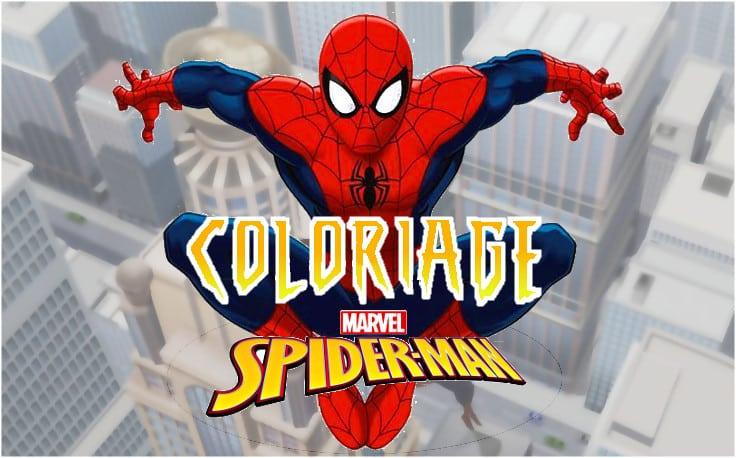 coloriage spiderman gratuit