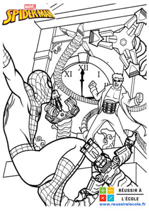 spiderman coloriage