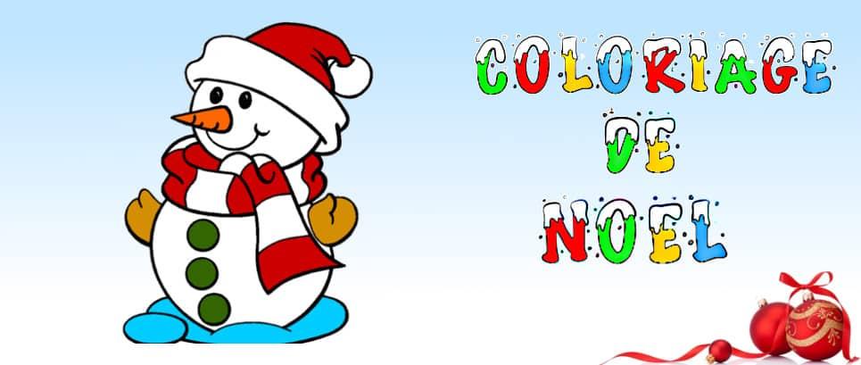 dessin noel a colorier