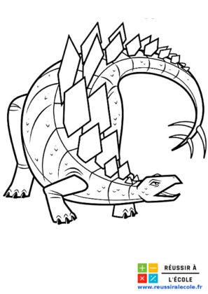 dessin dinosaure à imprimer