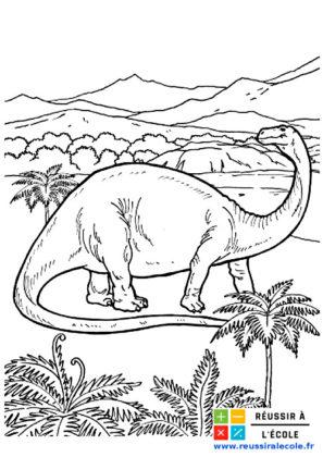 dessin dinosaure a imprimer
