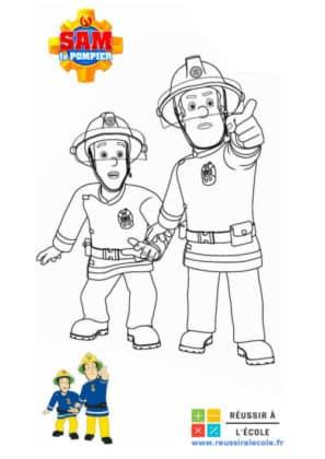 coloriage sam le pompier a imprimer