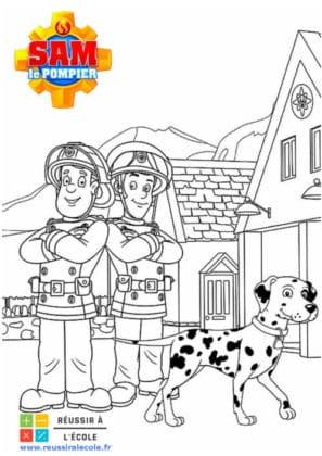 dessin sam le pompier a imprimer