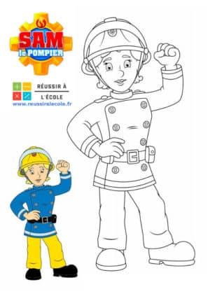 coloring sam the fireman