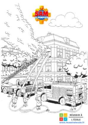 sam le pompier coloriage