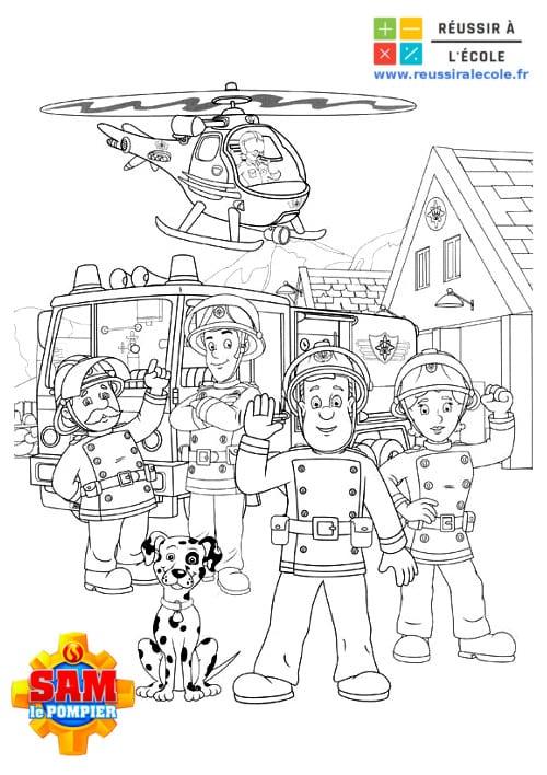 Coloriage Sam Le Pompier 15 Images A Imprimer Gratuitement