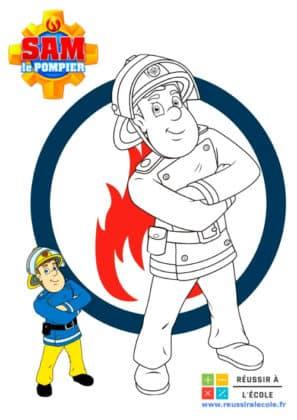 dessin sam le pompier