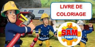 livre de coloriage sam le pompier