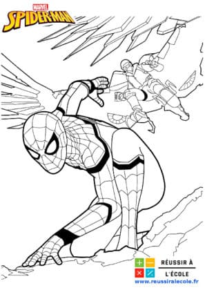 coloriage spiderman à imprimer