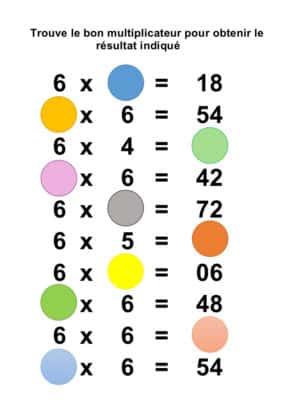 la table de 6