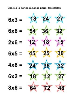 table de 6