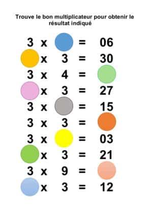 table de 3