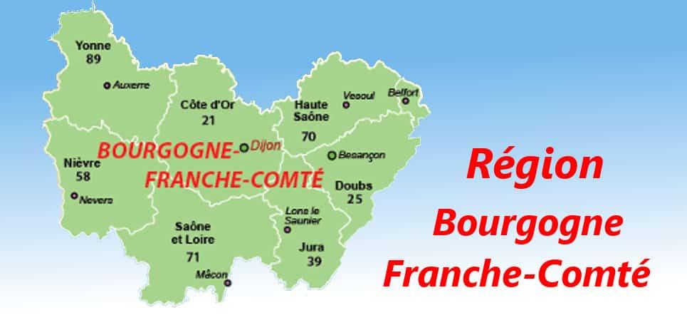 carte departements France