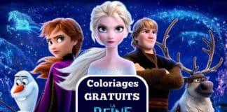 coloriage la reine des neiges à imprimer